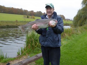 Malcolm Feiger, our Treasurer with a 7 1/2 pound trout at Latimer on 29th October 2015
